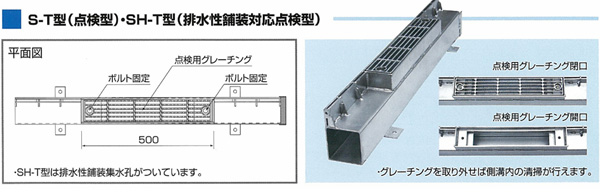 S-T型(点検型・SH-T型(排水性舗装対応点検型))