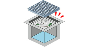 側溝ゴミの回収が簡単