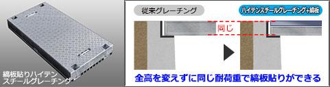 シマグレ縞板貼りハイテンスチールグレーチングの入れ替え