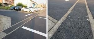 修繕工事施工後 既設道路側溝を暗渠化にした