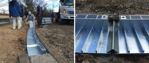ハイテン鋼製埋設蓋敷設・R調整
