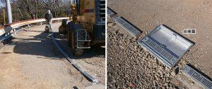 ハイテン鋼製埋設蓋敷設後の不陸整正