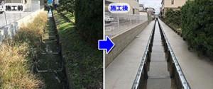 水路の壁を高くする圧倒的に早い工事