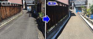ハイテン鋼製側溝ドレーンクリエイターが設置された現場 愛知県津島市