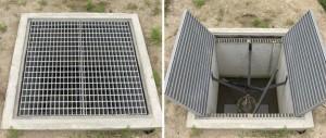 LSハイテングレーチングを使用し大幅に軽量化した農業用管理桝