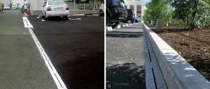 鋼製側溝スマートドレーン駐車場の設置例