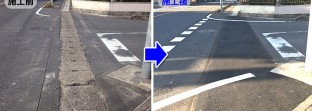 通行量の多い横断側溝の段差とガタツキを修繕した現場