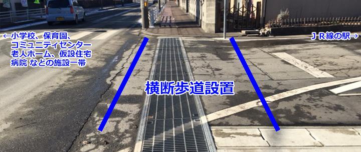 横断歩道を設置したい交差点