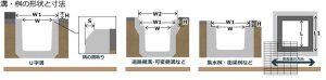 溝・桝の種類と寸法