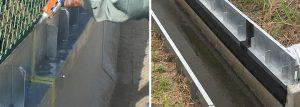 コーキング材での止水とアスファルト止水シート