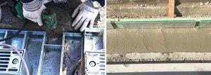 クラック防止にアンカー固定や生コン打設で製品を固定する