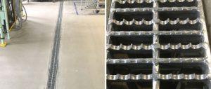 離型剤を使用する工場のグレーチング