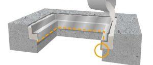 無収縮モルタル漏れ防止処置