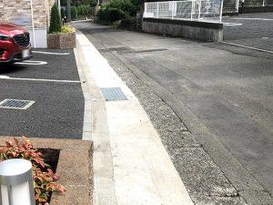 設計変更した現場施工後の現場