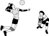 バレーボールの打球も安心